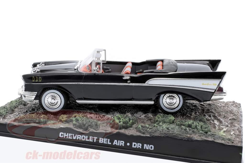 Chevrolet Bel Air James Bond Movie Car James Bond jagt Dr. No schwarz 1:43 Ixo