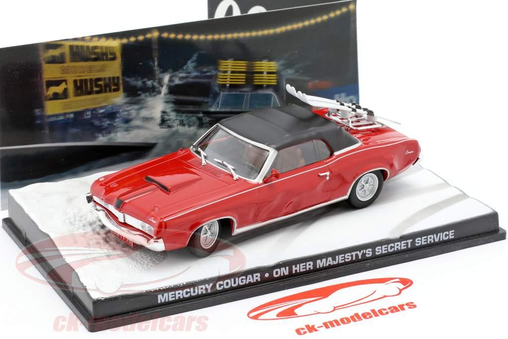 Mercury Cougar filme de James Bond Car em seu segredo vermelho 1:43 Ixo de Sua Majestade