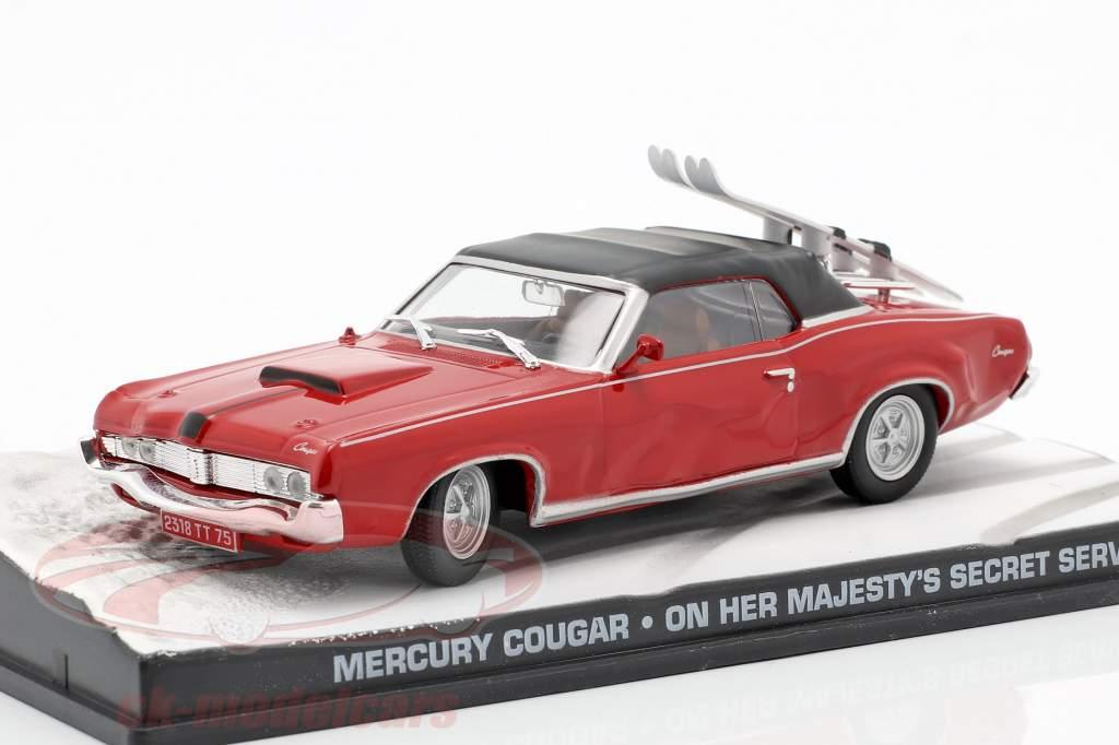 Mercury Cougar James Bond film in auto di Sua Maestà Segreto rosso 1:43 Ixo