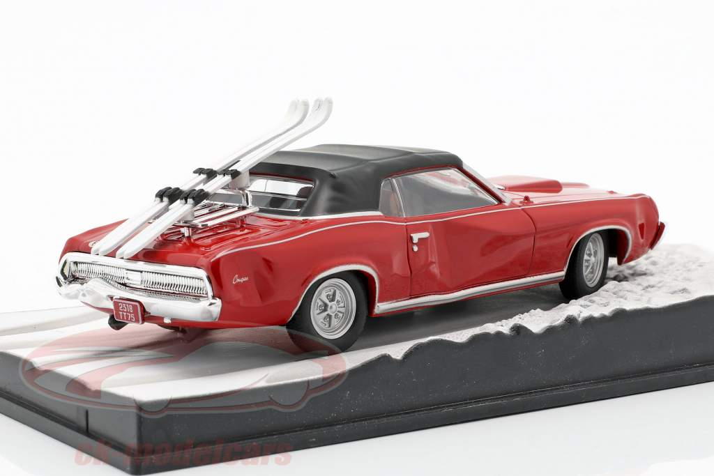 Mercury Cougar James Bond Movie bil i Hendes Majestæts hemmelige rød 1:43 Ixo