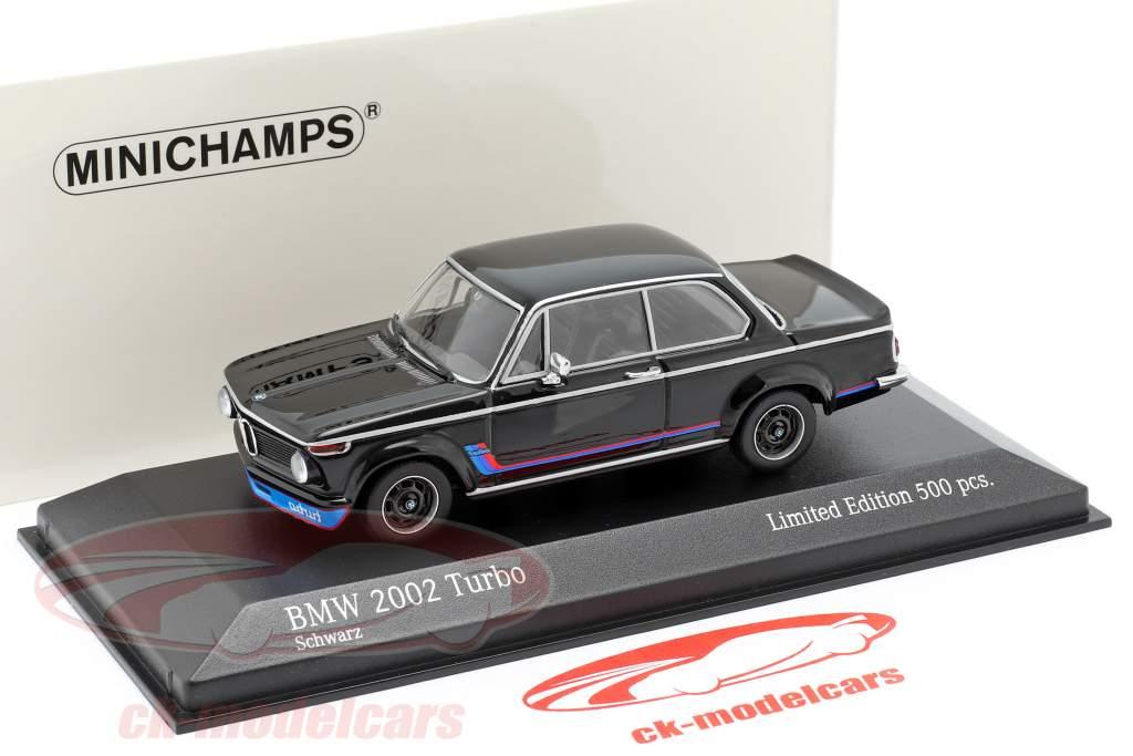 BMW 2002 Turbo (E20) Opførselsår 1973 sort 1:43 Minichamps