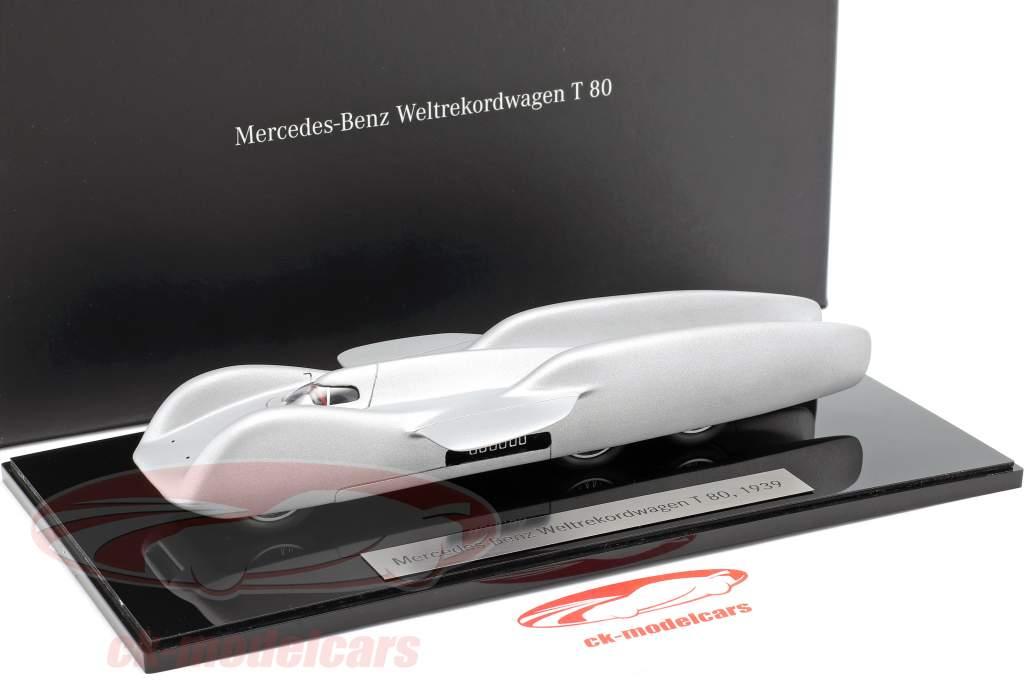 Mercedes-Benz wereld record auto T 80 Bouwjaar 1939 zilver 1:43 Autocraft