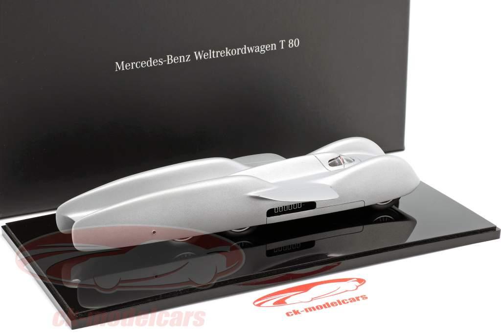 Mercedes-Benz mondo record auto T 80 anno di costruzione 1939 argento 1:43 Autocraft