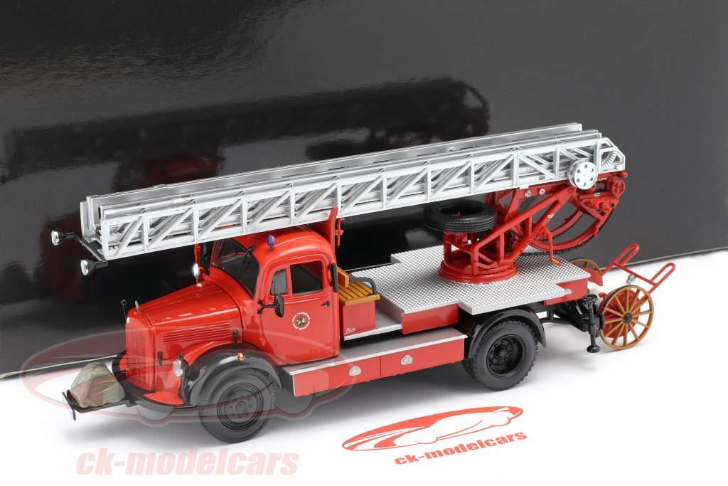 Mercedes-Benz L3500 DL17 bombeiros Bensheim 1950 1:43 Minichamps
