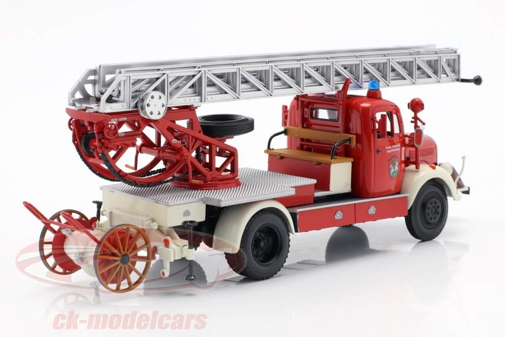 Mercedes-Benz L3500 vigili del fuoco Bensheim anno di costruzione 1950 rosso / bianco 1:43 Minichamps