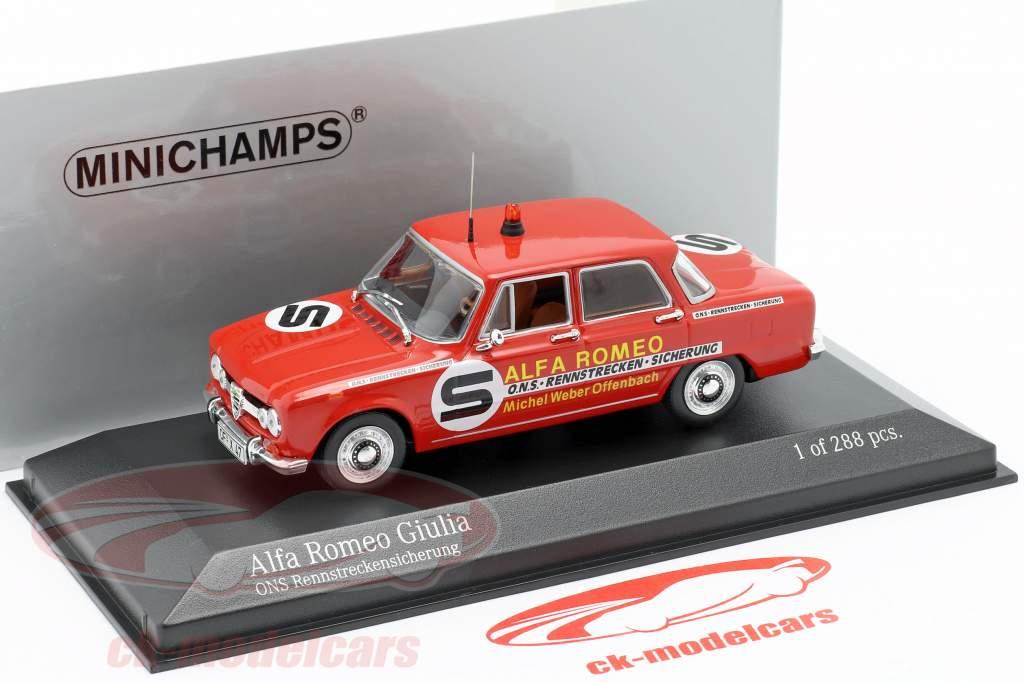 Alfa Romeo Giulia ONS fusible del circuito 1973 1:43 Minichamps