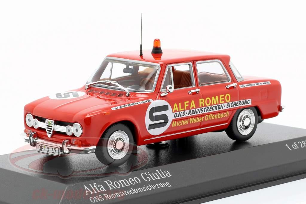 Alfa Romeo Giulia ONS circuit fusible 1973 1:43 Minichamps