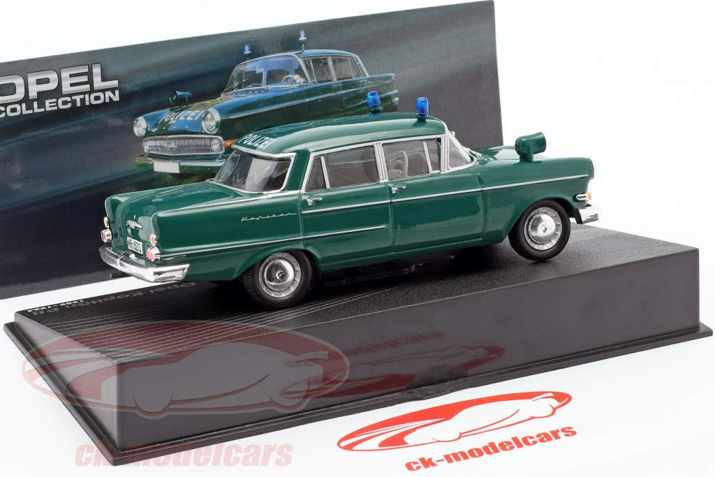 Opel Kapitän PII Police Year 1959-1964 dark green 1:43 Ixo Altaya