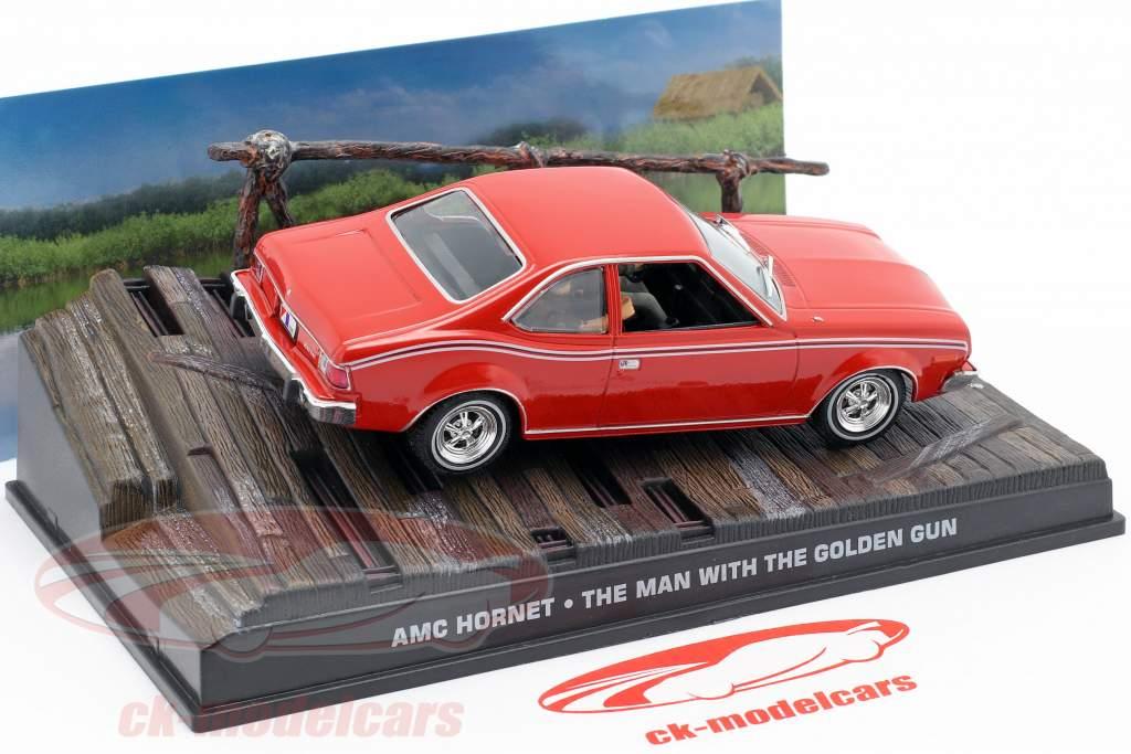 AMC Hornet James Bond Car film di un uomo con la pistola d'oro rosso 1:43 Ixo