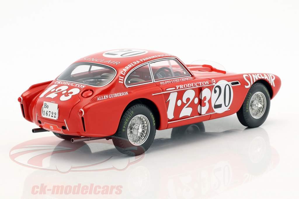 Ferrari 340 Berlinetta Mexico #20 tercero Carrera Panamericana 1952 Chinetti, Lucas 1:18 CMR