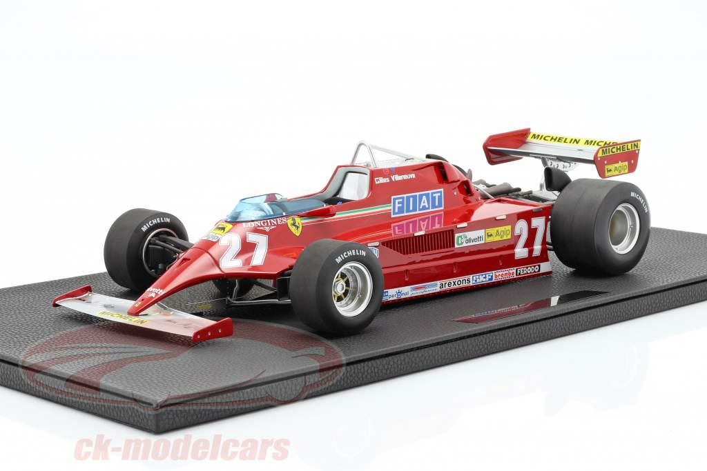 Gilles Villeneuve Ferrari 126CK #27 Formel 1 1981 1:12 GP Replicas