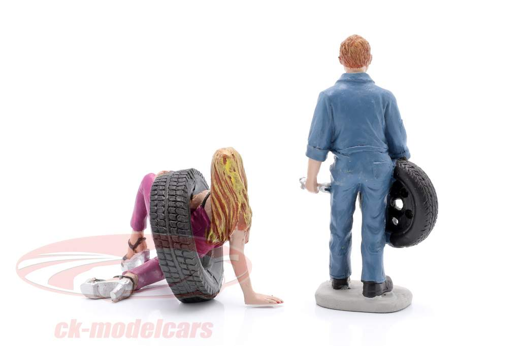 Tire Brigade figuur Set #3 Val & Gery 1:18 MotorHeadMiniatures