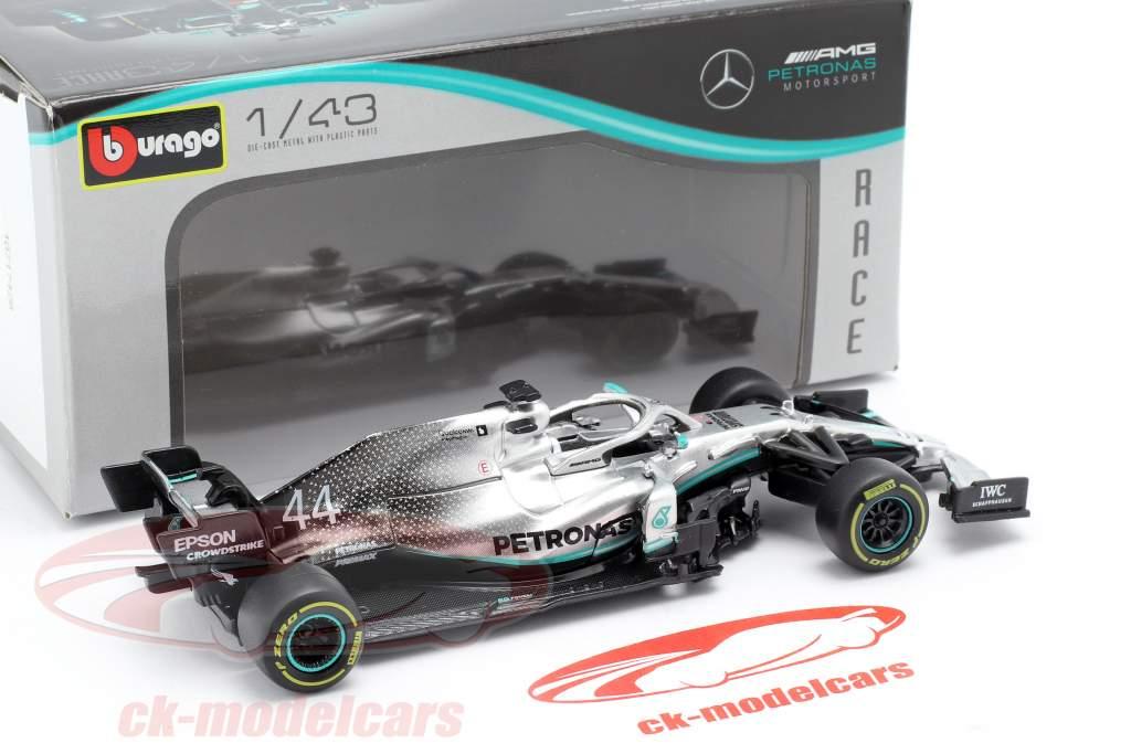 L. Hamilton Mercedes-AMG F1 W10 EQ #44 formel 1 verdensmester 2019 1:43 Bburago