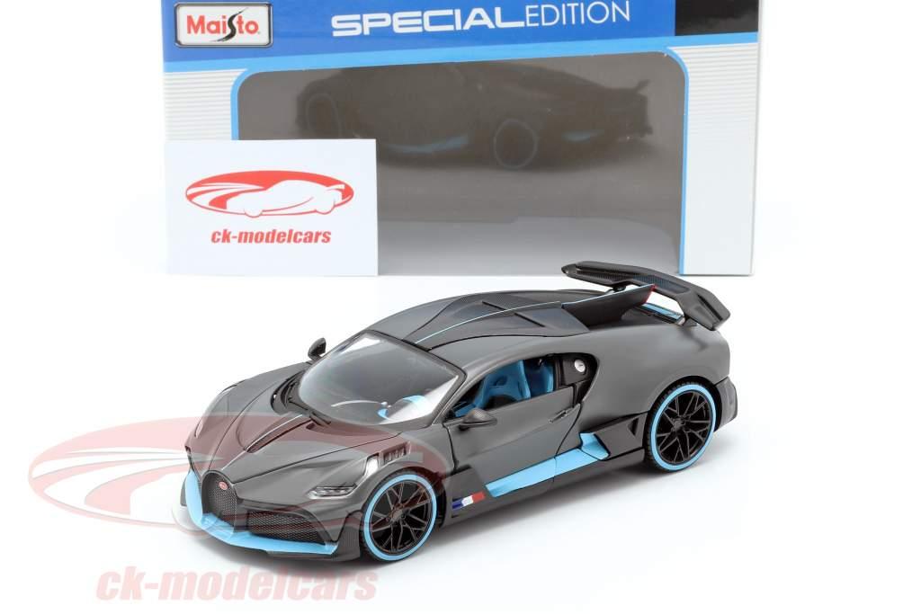 Bugatti Divo année de construction 2018 natte gris / lumière bleu 1:24 Maisto