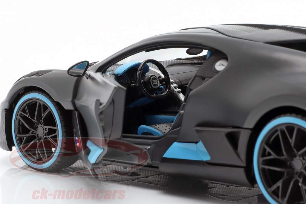 Bugatti Divo año de construcción 2018 estera gris / luz azul 1:24 Maisto