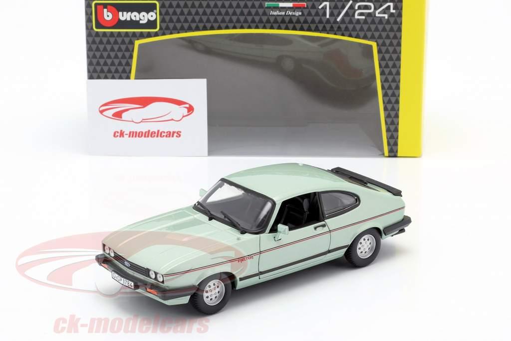 Ford Capri 2.8i Opførselsår 1982 mintgrøn metallisk 1:24 Bburago