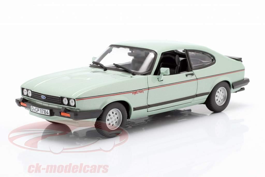 Ford Capri 2.8i year 1982 mint green metallic 1:24 Bburago