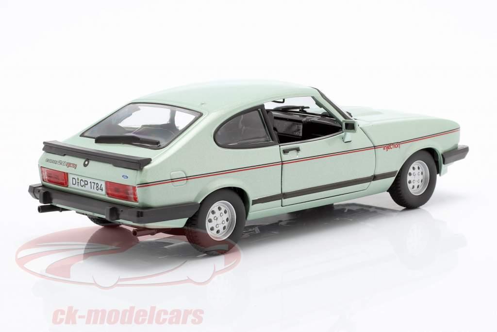 Ford Capri 2.8i année de construction 1982 menthe verte métallique 1:24 Bburago