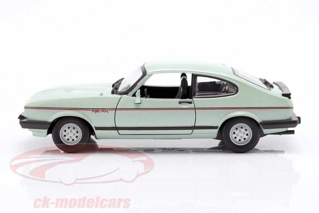 Ford Capri 2.8i anno di costruzione 1982 verde menta metallico 1:24 Bburago
