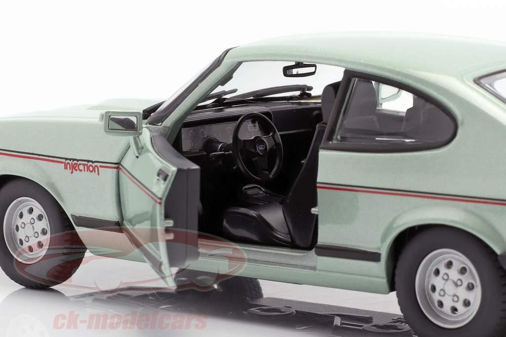 Ford Capri 2.8i ano de construção 1982 verde hortelã metálico 1:24 Bburago