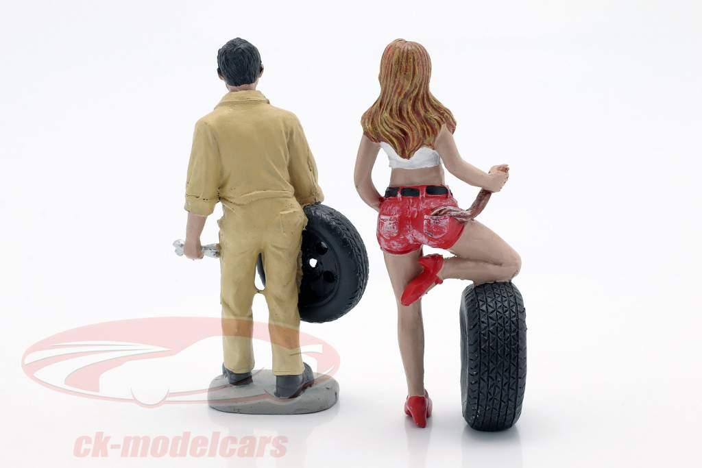Tire Brigade Figura conjunto #1 Andie & Gery 1:18 MotorHeadMiniatures