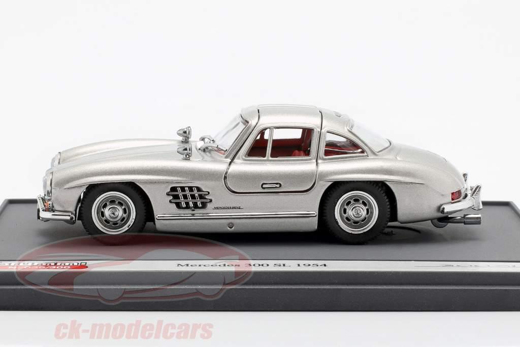 Mercedes-Benz 300 SL (W198) Gullwing ano de construção 1954 prateado 1:43 Brumm