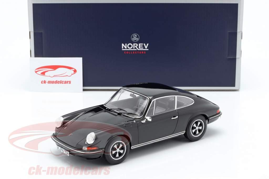 Porsche 911 S Coupe Baujahr 1973 schwarz 1:18 Norev
