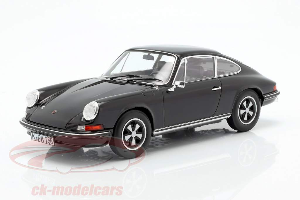 Porsche 911 S Coupe anno di costruzione 1973 nero 1:18 Norev