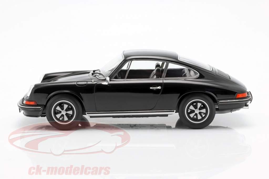 Porsche 911 S Coupe Opførselsår 1973 sort 1:18 Norev
