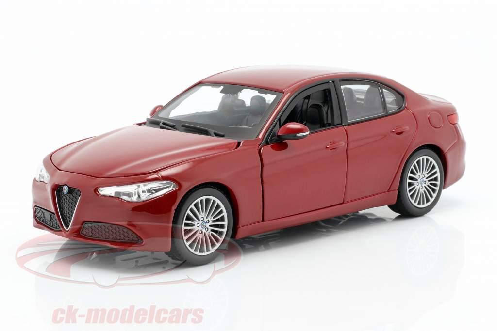 Alfa Romeo Giulia vermelho 1:24 Bburago