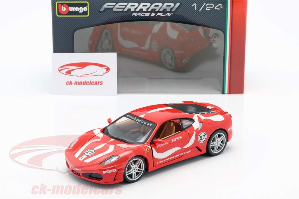 Ferrari F430 Fiorano #27 rojo 1:24 Bburago