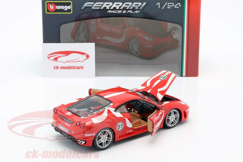 Ferrari F430 Fiorano #27 rød 1:24 Bburago