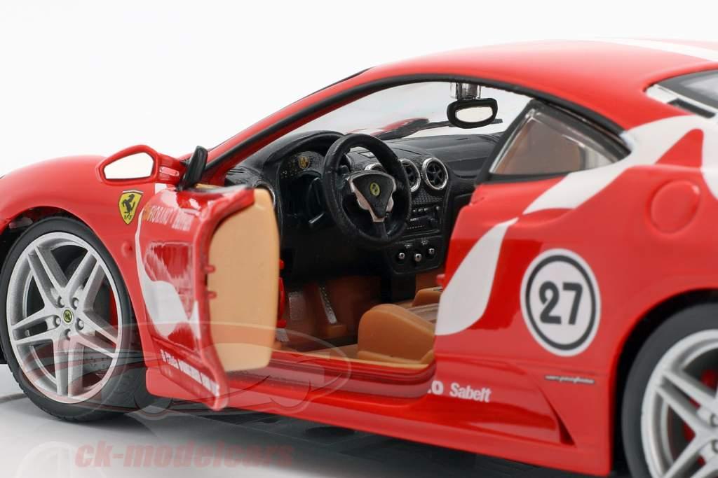 Ferrari F430 Fiorano #27 vermelho 1:24 Bburago