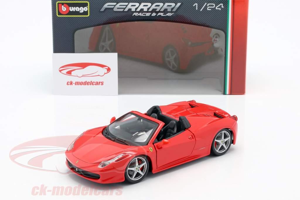 Ferrari 458 Spider red 1:24 Bburago