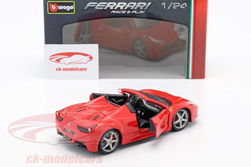 Ferrari 458 Spider rood 1:24 Bburago