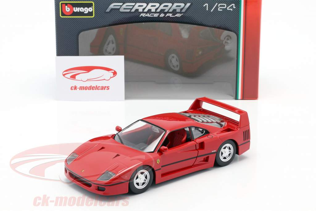 Ferrari F40 Bouwjaar 1987-1992 rood 1:24 Bburago