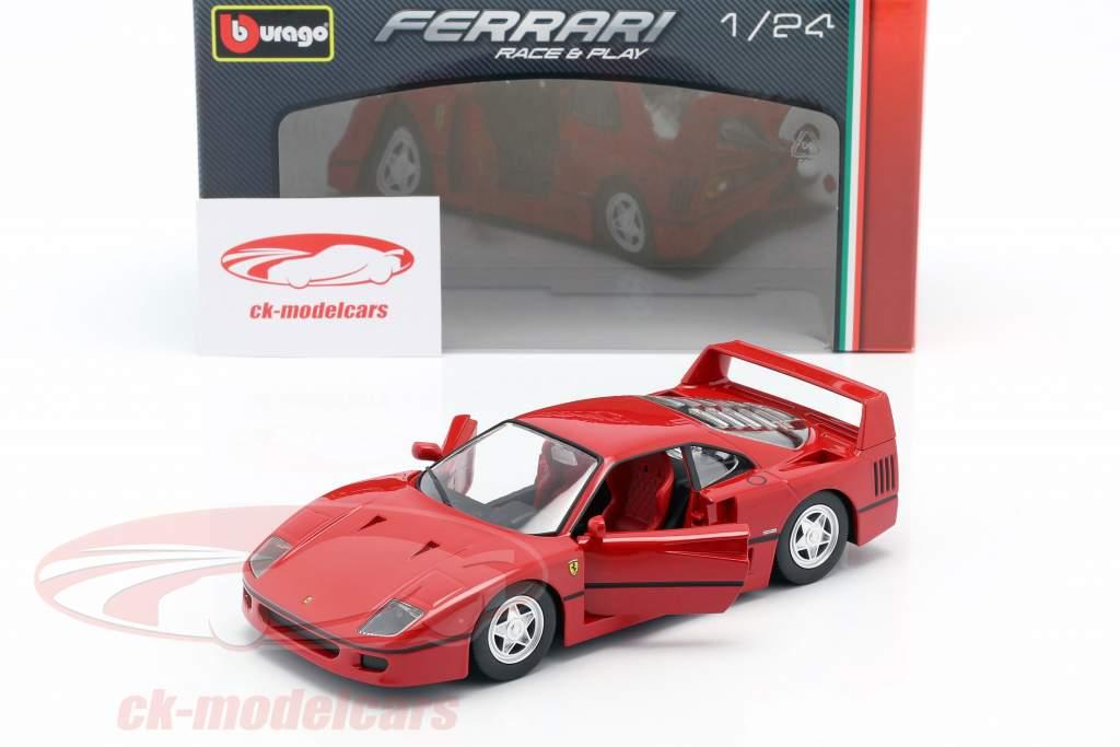 Ferrari F40 Ano de construção 1987-1992 vermelho 1:24 Bburago