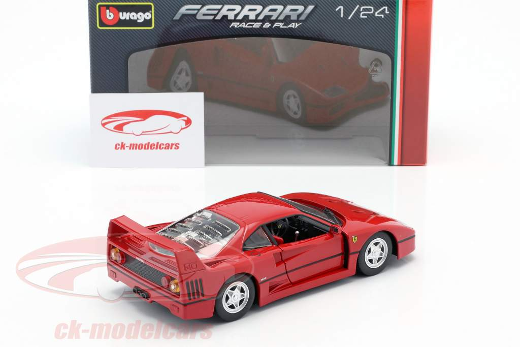 Bburago 1 24 Ferrari F40 Year 1987 1992 Red 18 26016 Model Car 18 26016 4893993260164