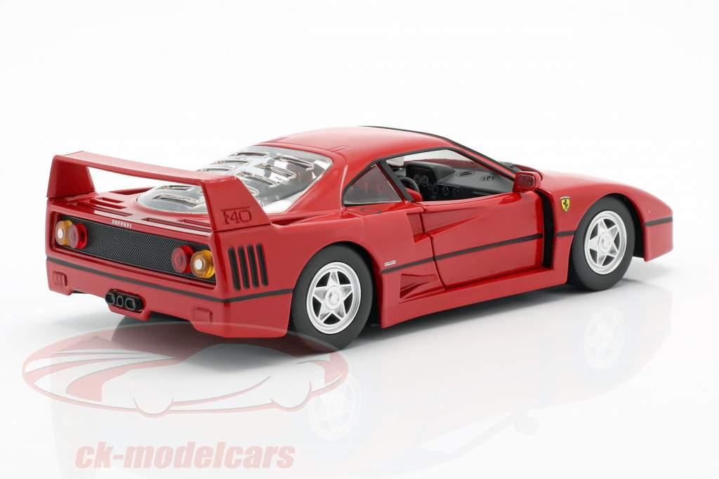 Ferrari F40 Année de construction 1987-1992 rouge 1:24 Bburago