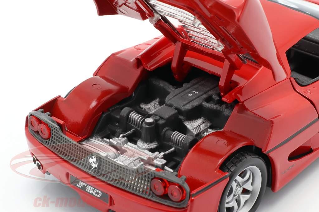 Ferrari F50 vermelho 1:24 Bburago
