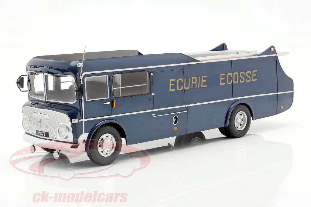 Commer TS3 Truck Team Transporter Ecurie Ecosse 1959 blau metallic 1:18 CMR