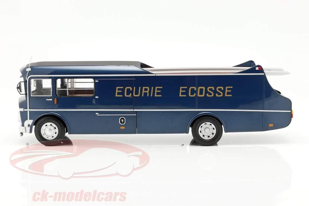 Commer TS3 Truck Équipe Transporteur Ecurie Ecosse 1959 bleu métallique 1:18 CMR