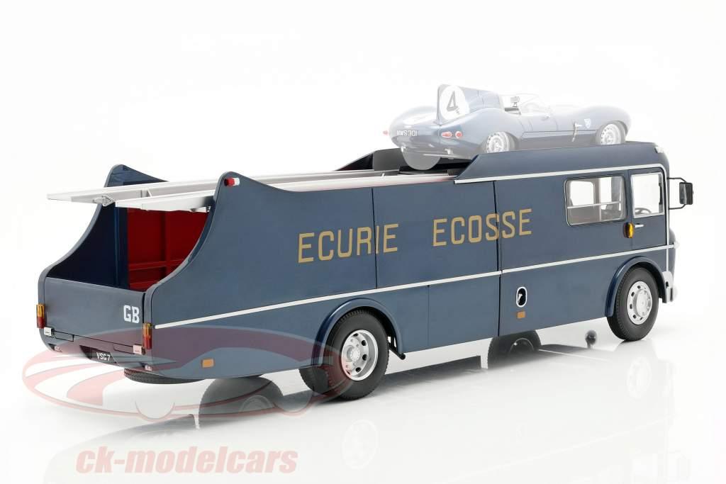 Commer TS3 Truck Equipo Transportador Ecurie Ecosse 1959 azul metálico 1:18 CMR