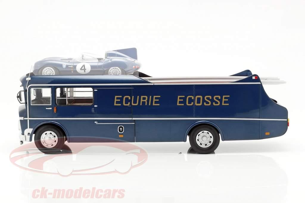 Commer TS3 Truck Equipa Transportador Ecurie Ecosse 1959 azul metálico 1:18 CMR