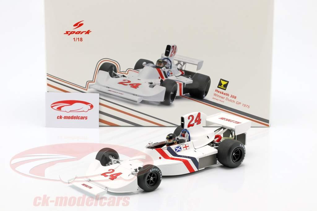 James Hunt Hesketh 308 #24 Vencedor Holandês GP Formula 1 1975 1:18 Spark