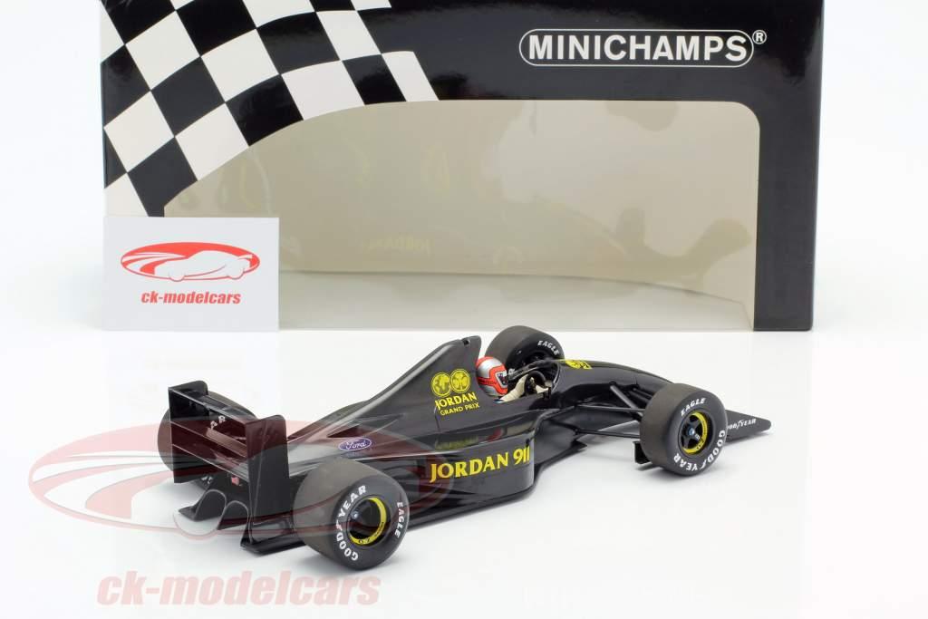 John Watson Jordan 911 Formel 1 Test Silverstone November 1990 1:18 Minichamps