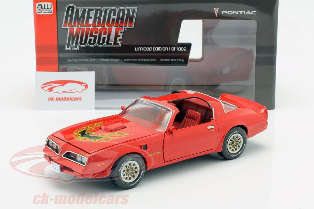 Pontiac Firebird Trans Am Ano de construção 1977 vermelho 1:18 Autoworld