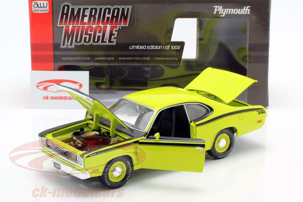 Plymouth Duster 340 Baujahr 1971 grün / schwarz 1:18 Autoworld