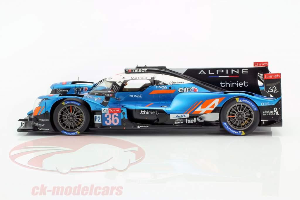 Alpine A470 #36 Vinder LMP2 24h LeMans 2019 Lapierre, Thiriet, Negrao 1:18 Spark