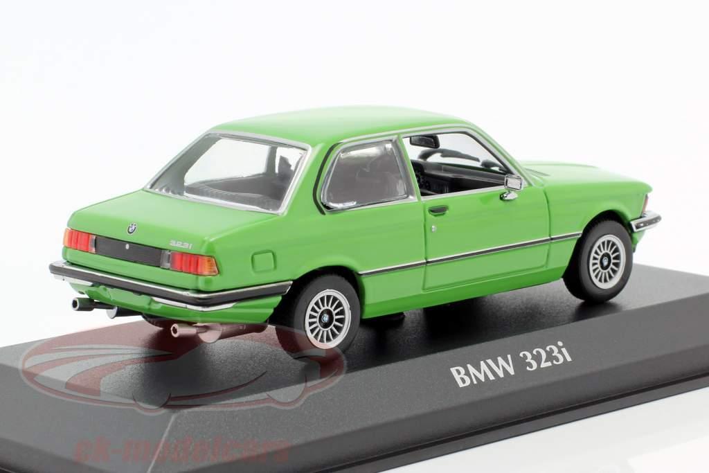 BMW 323i (E21) Año de construcción 1975 verde 1:43 Minichamps